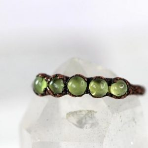 Shop Peridot Rings! Peridot Ring – August Birthstone Ring – Copper Ring – Multi Stone Ring – Peridot Jewelry | Natural genuine Peridot rings, simple unique handcrafted gemstone rings. #rings #jewelry #shopping #gift #handmade #fashion #style #affiliate #ad