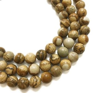 Shop Picture Jasper Round Beads! 10mm Picture Jasper Beads, Round Gemstone Beads, Wholasela Beads | Natural genuine round Picture Jasper beads for beading and jewelry making.  #jewelry #beads #beadedjewelry #diyjewelry #jewelrymaking #beadstore #beading #affiliate #ad