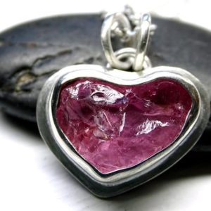 Shop Pink Tourmaline Pendants! pink heart pendant silver, raw tourmaline crystal necklace, crystal heart pendant, pink tourmaline pendant rubellite, unique gift for women | Natural genuine Pink Tourmaline pendants. Buy crystal jewelry, handmade handcrafted artisan jewelry for women.  Unique handmade gift ideas. #jewelry #beadedpendants #beadedjewelry #gift #shopping #handmadejewelry #fashion #style #product #pendants #affiliate #ad