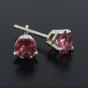 Shop Pink Tourmaline Earrings! Pink Tourmaline Earrings, 14k White Gold Studs | Natural genuine Pink Tourmaline earrings. Buy crystal jewelry, handmade handcrafted artisan jewelry for women.  Unique handmade gift ideas. #jewelry #beadedearrings #beadedjewelry #gift #shopping #handmadejewelry #fashion #style #product #earrings #affiliate #ad