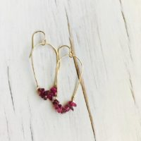Pink Tourmaline Earrings Tourmaline Jewelry Tourmaline Hoop Gemstone Jewelry Raw Tourmaline Earrings | Natural genuine Gemstone jewelry. Buy crystal jewelry, handmade handcrafted artisan jewelry for women.  Unique handmade gift ideas. #jewelry #beadedjewelry #beadedjewelry #gift #shopping #handmadejewelry #fashion #style #product #jewelry #affiliate #ad