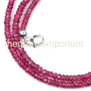 Shop Pink Tourmaline Necklaces! Pink Tourmaline Faceted Necklace, Pink Tourmaline Beads, Pink Tourmaline Rondelle, Rubellite Beads, Rubellite Tourmaline Faceted | Natural genuine Pink Tourmaline necklaces. Buy crystal jewelry, handmade handcrafted artisan jewelry for women.  Unique handmade gift ideas. #jewelry #beadednecklaces #beadedjewelry #gift #shopping #handmadejewelry #fashion #style #product #necklaces #affiliate #ad