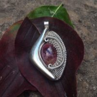 Pink Tourmaline Pendant. 7.5 Carats! Hybrid Pendant Made Out Of Sterling Silver! | Natural genuine Gemstone jewelry. Buy crystal jewelry, handmade handcrafted artisan jewelry for women.  Unique handmade gift ideas. #jewelry #beadedjewelry #beadedjewelry #gift #shopping #handmadejewelry #fashion #style #product #jewelry #affiliate #ad