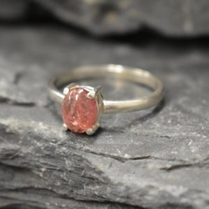 Shop Pink Tourmaline Rings! Pink Tourmaline Ring, Natural Tourmaline Ring, October Birthstone, Solitaire Oval Ring, Pink Vintage Ring, October Ring, Solid Silver Ring | Natural genuine Pink Tourmaline rings, simple unique handcrafted gemstone rings. #rings #jewelry #shopping #gift #handmade #fashion #style #affiliate #ad