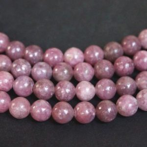 Pink Tourmaline Smooth Round Beads,Lepidolite 4mm,6mm,8mm,10mm,12mm ,15 inches per Strands | Natural genuine beads Pink Tourmaline beads for beading and jewelry making.  #jewelry #beads #beadedjewelry #diyjewelry #jewelrymaking #beadstore #beading #affiliate #ad