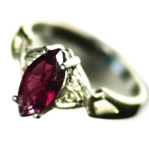 Shop Pink Tourmaline Rings! Purple Tourmaline Ring Size 6 Sterling Silver (.81 Ct) November Birthstone Ring, Red Tourmaline Solitaire Ring, Pink Tourmaline Ring For Her | Natural genuine Pink Tourmaline rings, simple unique handcrafted gemstone rings. #rings #jewelry #shopping #gift #handmade #fashion #style #affiliate #ad