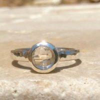 Crystal Quartz Silver Ring, Small Faceted Gemstone Silver Ring, Gift For Women | Natural genuine Gemstone jewelry. Buy crystal jewelry, handmade handcrafted artisan jewelry for women.  Unique handmade gift ideas. #jewelry #beadedjewelry #beadedjewelry #gift #shopping #handmadejewelry #fashion #style #product #jewelry #affiliate #ad