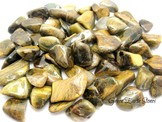 1 Lovely! Lionskin Tumbled Stone, Metaphysical Crystals, Pocket Stones, Rock Hound, Quartz, Tigers Eye, Metaphysical Crystals,