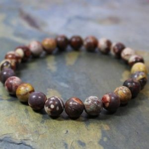 Shop Rainforest Jasper Bracelets! Healing Beads Bracelet, Healing Gemstone Bracelet, Healing Elastic Bracelet, Yoga Beads Bracelet, Mala Beads, Birdseye Rhyolite, Vegan Gift | Natural genuine Rainforest Jasper bracelets. Buy crystal jewelry, handmade handcrafted artisan jewelry for women.  Unique handmade gift ideas. #jewelry #beadedbracelets #beadedjewelry #gift #shopping #handmadejewelry #fashion #style #product #bracelets #affiliate #ad