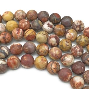 Shop Rainforest Jasper Beads! 10mm Matte Matte Birdseye Rhyolite Jasper Beads, Round Gemstone Beads, Wholesale Beads | Natural genuine round Rainforest Jasper beads for beading and jewelry making.  #jewelry #beads #beadedjewelry #diyjewelry #jewelrymaking #beadstore #beading #affiliate #ad