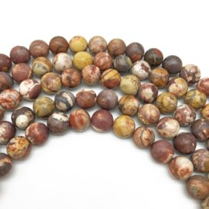 Shop Rainforest Jasper Beads! 8mm Matte Matte Birdseye Rhyolite Jasper Beads, Round Gemstone Beads, Wholesale Beads | Natural genuine round Rainforest Jasper beads for beading and jewelry making.  #jewelry #beads #beadedjewelry #diyjewelry #jewelrymaking #beadstore #beading #affiliate #ad