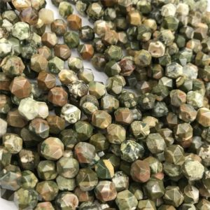 Shop Rainforest Jasper Beads! Rainforest Jasper Star Cut Beads,8mm 10mm Beads,Gemstone, Approx 15.5 Inch Strand | Natural genuine other-shape Rainforest Jasper beads for beading and jewelry making.  #jewelry #beads #beadedjewelry #diyjewelry #jewelrymaking #beadstore #beading #affiliate #ad