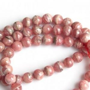 Shop Rhodochrosite Beads! Rhodochrosite Rondelle Beads, 6mm Beads, Plain Round Beads, Half Strand 8 Inches | Natural genuine beads Rhodochrosite beads for beading and jewelry making.  #jewelry #beads #beadedjewelry #diyjewelry #jewelrymaking #beadstore #beading #affiliate #ad