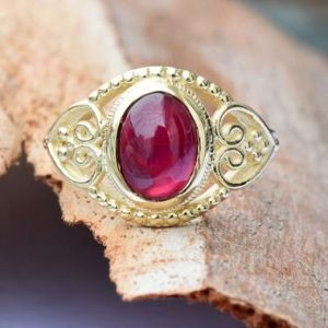 Ruby statement ring-Ruby ring-Art deco ring-Gold Ring-Women Jewelry-For her-Holidays gift-FREE SHIPPING-Fashion ring-Ruby stackable ring | Natural genuine Array rings, simple unique handcrafted gemstone rings. #rings #jewelry #shopping #gift #handmade #fashion #style #affiliate #ad