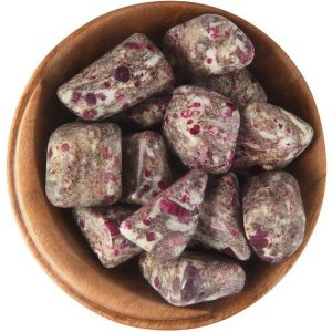 Shop Tumbled Ruby Crystals & Pocket Stones! 1 Ruby Matrix – Ethically Sourced Tumbled Stone | Natural genuine stones & crystals in various shapes & sizes. Buy raw cut, tumbled, or polished gemstones for making jewelry or crystal healing energy vibration raising reiki stones. #crystals #gemstones #crystalhealing #crystalsandgemstones #energyhealing #affiliate #ad