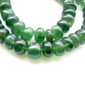 "Shop Serpentine Rondelle Beads! Natural Green Serpentine Rondelle Beads, Serpentine Smooth Rondelle Beads, 8mm/9-10mm Loose Serpentine Beads, 16""/8"" Strand, GDS1297 