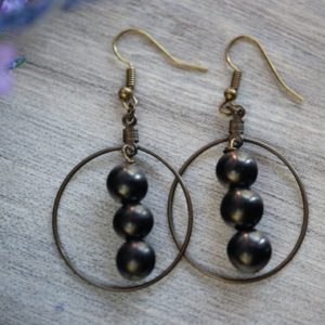 Shop Shungite Earrings! Petrovsky or Black Shungite Earrings Antique Brass 8mm EMF Protection Dangle, Hoop, Drop with Sterling Silver, Gunmetal Options | Natural genuine Shungite earrings. Buy crystal jewelry, handmade handcrafted artisan jewelry for women.  Unique handmade gift ideas. #jewelry #beadedearrings #beadedjewelry #gift #shopping #handmadejewelry #fashion #style #product #earrings #affiliate #ad