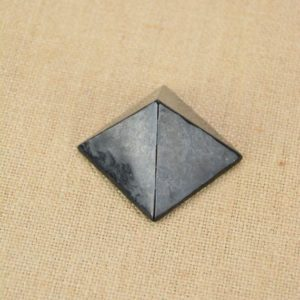 Shop Shungite Stones & Crystals! Small Shungite Pyramid | Natural genuine stones & crystals in various shapes & sizes. Buy raw cut, tumbled, or polished gemstones for making jewelry or crystal healing energy vibration raising reiki stones. #crystals #gemstones #crystalhealing #crystalsandgemstones #energyhealing #affiliate #ad