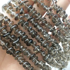Shop Smoky Quartz Chip & Nugget Beads! 5-8mm Smoky Quartz Chip Beads, Chip Gemstone Beads, Wholesale Beads | Natural genuine chip Smoky Quartz beads for beading and jewelry making.  #jewelry #beads #beadedjewelry #diyjewelry #jewelrymaking #beadstore #beading #affiliate #ad