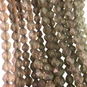 Shop Smoky Quartz Faceted Beads! Faceted Smoky Quartz Beads, Matte Stone Beads, Star Cut Beads, Gemstone Beads, 8mm, 10mm | Natural genuine faceted Smoky Quartz beads for beading and jewelry making.  #jewelry #beads #beadedjewelry #diyjewelry #jewelrymaking #beadstore #beading #affiliate #ad