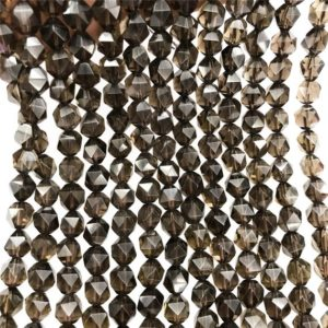 Shop Smoky Quartz Faceted Beads! Faceted Smoky Quartz Beads, Star Cut Beads, Gemstone Beads, 8mm, 10mm   Natural genuine faceted Smoky Quartz beads for beading and jewelry making.  #jewelry #beads #beadedjewelry #diyjewelry #jewelrymaking #beadstore #beading #affiliate #ad