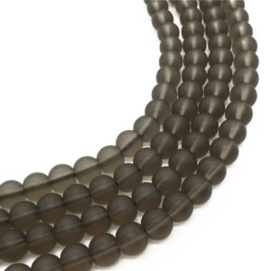 Shop Smoky Quartz Round Beads! 8mm Matte Smoky Quartz Beads, Round Gemstone Beads, Wholesale Beads | Natural genuine round Smoky Quartz beads for beading and jewelry making.  #jewelry #beads #beadedjewelry #diyjewelry #jewelrymaking #beadstore #beading #affiliate #ad