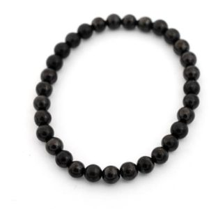 Shop Shungite Bracelets! Smooth Round Shungite Bead on Elastic | Natural genuine Shungite bracelets. Buy crystal jewelry, handmade handcrafted artisan jewelry for women.  Unique handmade gift ideas. #jewelry #beadedbracelets #beadedjewelry #gift #shopping #handmadejewelry #fashion #style #product #bracelets #affiliate #ad