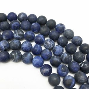 Shop Sodalite Round Beads! 10mm Matte Sodalite Beads, Round Gemstone Beads, Wholesale Beads | Natural genuine round Sodalite beads for beading and jewelry making.  #jewelry #beads #beadedjewelry #diyjewelry #jewelrymaking #beadstore #beading #affiliate #ad
