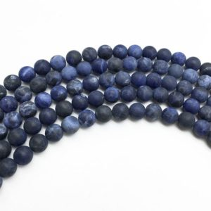 Shop Sodalite Round Beads! 6mm Matte Sodalite Beads, Round Gemstone Beads, Wholasela Beads | Natural genuine round Sodalite beads for beading and jewelry making.  #jewelry #beads #beadedjewelry #diyjewelry #jewelrymaking #beadstore #beading #affiliate #ad