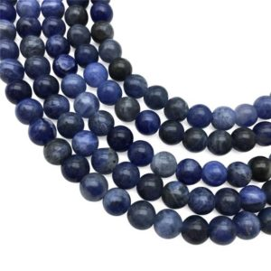Shop Sodalite Round Beads! 8mm Sodalite Beads, Round Gemstone Beads, Wholesale Beads | Natural genuine round Sodalite beads for beading and jewelry making.  #jewelry #beads #beadedjewelry #diyjewelry #jewelrymaking #beadstore #beading #affiliate #ad
