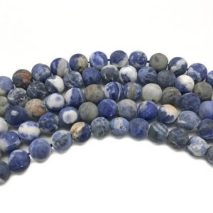 Shop Sodalite Round Beads! 8mm Matte Sodalite Beads, Round Gemstone Beads, Wholesale Beads | Natural genuine round Sodalite beads for beading and jewelry making.  #jewelry #beads #beadedjewelry #diyjewelry #jewelrymaking #beadstore #beading #affiliate #ad