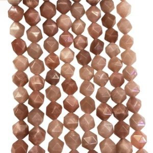 Shop Sunstone Faceted Beads! Natural Faceted Sunstone Beads, Star Cut Beads, Gemstone Beads, 8mm 10mm | Natural genuine faceted Sunstone beads for beading and jewelry making.  #jewelry #beads #beadedjewelry #diyjewelry #jewelrymaking #beadstore #beading #affiliate #ad