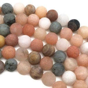Shop Sunstone Round Beads! 10mm Matte Sunstone Beads, Orange Sunstone Beads, Round Gemstone Beads, Wholesale Beads | Natural genuine round Sunstone beads for beading and jewelry making.  #jewelry #beads #beadedjewelry #diyjewelry #jewelrymaking #beadstore #beading #affiliate #ad