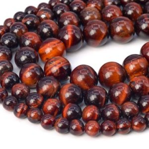 Shop Tiger Eye Round Beads! Mahogany Red Tiger Eye Beads Grade AA Genuine Natural Gemstone Round Loose Beads 4MM 6MM 8MM 9-10MM 12MM Bulk Lot Options | Natural genuine round Tiger Eye beads for beading and jewelry making.  #jewelry #beads #beadedjewelry #diyjewelry #jewelrymaking #beadstore #beading #affiliate #ad