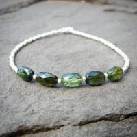 Heart Chakra Bracelet, Green Tourmaline Bracelet, October Birthstone Jewelry, Silver, Beaded Bracelet, Gemstone Chakra Bracelets For Women, | Natural genuine Gemstone jewelry. Buy crystal jewelry, handmade handcrafted artisan jewelry for women.  Unique handmade gift ideas. #jewelry #beadedjewelry #beadedjewelry #gift #shopping #handmadejewelry #fashion #style #product #jewelry #affiliate #ad