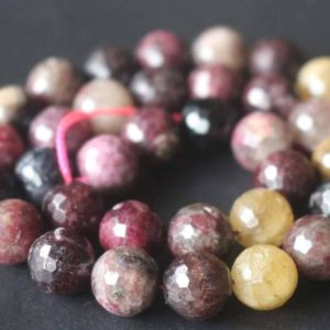 Natural 128 Faceted Tourmaline Beads,6mm/8mm/10mm/12mm Faceted Round Beads Supply,15 inches one starand | Natural genuine faceted Tourmaline beads for beading and jewelry making.  #jewelry #beads #beadedjewelry #diyjewelry #jewelrymaking #beadstore #beading #affiliate #ad