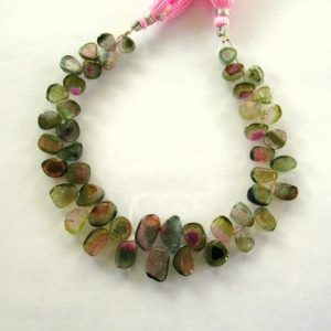 "Shop Tourmaline Bead Shapes! Watermelon tourmaline slice beads AA 6-12mm 8"" strand 