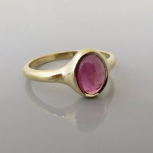 Tourmaline Ring , Pink Tourmaline Ring , Solid Gold and Gemstone Ring , 14 k Gold Ring , Fine Jewelry , Engagement Ring | Natural genuine Pink Tourmaline rings, simple unique alternative gemstone engagement rings. #rings #jewelry #bridal #wedding #jewelryaccessories #engagementrings #weddingideas #affiliate #ad