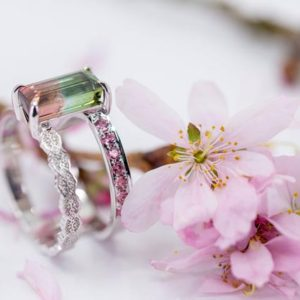 Shop Tourmaline Rings! Watermelon Tourmaline Ring, Bicolor Tourmaline Ring, Multi Gemstone Ring, Rose Gold Lace Ring, Watermelon Tourmaline Jewelry | Natural genuine Tourmaline rings, simple unique handcrafted gemstone rings. #rings #jewelry #shopping #gift #handmade #fashion #style #affiliate #ad