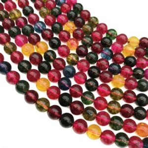 Shop Tourmaline Round Beads! 10mm Tourmaline Quartz Beads, Round Gemstone Beads, Wholesale Beads | Natural genuine round Tourmaline beads for beading and jewelry making.  #jewelry #beads #beadedjewelry #diyjewelry #jewelrymaking #beadstore #beading #affiliate #ad