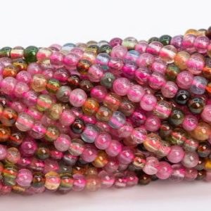 "Shop Tourmaline Round Beads! 2MM Multicolor Tourmaline Beads Grade AAA Genuine Natural Gemstone Full Strand Round Loose Beads 15"" Bulk Lot Options (110676-3216) 