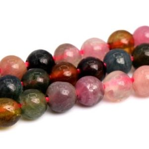 "Shop Tourmaline Round Beads! 3mm Multicolor Tourmaline Beads Grade A+ Genuine Natural Gemstone Full Strand Round Loose Beads 15.5"" Bulk Lot 1, 3, 5, 10 And 50 (102294-492) 