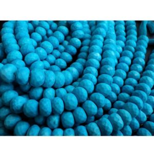 Shop Turquoise Faceted Beads! Turquoise Faceted Rondelle Beads/ Chinese Turquoise/ Faceted Rondelles – 9mm Each, 35 Pieces Approx, 8.5 Inch Strand | Natural genuine faceted Turquoise beads for beading and jewelry making.  #jewelry #beads #beadedjewelry #diyjewelry #jewelrymaking #beadstore #beading #affiliate #ad