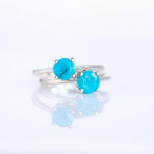 Shop Turquoise Rings! Turquoise Ring, Sterling Silver Ring, December Birthstone Rings for Women, 925 Turquoise Ring, Turquoise Stacking Ring Size 5 6 7 8 | Natural genuine Turquoise rings, simple unique handcrafted gemstone rings. #rings #jewelry #shopping #gift #handmade #fashion #style #affiliate #ad