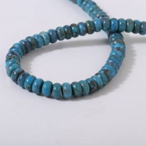 Shop Turquoise Rondelle Beads! AAA Quality American Turquoise Plain Rondelle Beads Wholesale Strands for Jewelry Making | Natural genuine rondelle Turquoise beads for beading and jewelry making.  #jewelry #beads #beadedjewelry #diyjewelry #jewelrymaking #beadstore #beading #affiliate #ad