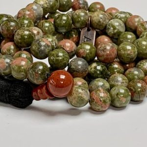 Shop Unakite Necklaces! 8mm, 10 mm Energized & Blessed Unakite Fertility Mala Beads Necklace, 108 Prayer Beads, Natural Unakite Stones Mala, Handmade in the USA | Natural genuine Unakite necklaces. Buy crystal jewelry, handmade handcrafted artisan jewelry for women.  Unique handmade gift ideas. #jewelry #beadednecklaces #beadedjewelry #gift #shopping #handmadejewelry #fashion #style #product #necklaces #affiliate #ad