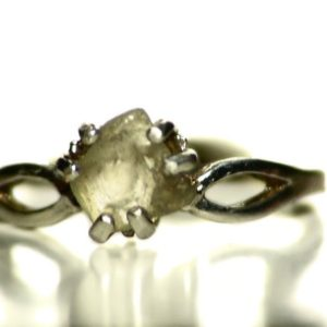 Shop Yellow Sapphire Rings! Yellow Sapphire Crystal Ring in Sterling Silver (1.3 ct) Size 8 Ring, Natural Sapphire from Madagascar, Uncut Raw Sapphire Birthstone Ring   Natural genuine Yellow Sapphire rings, simple unique handcrafted gemstone rings. #rings #jewelry #shopping #gift #handmade #fashion #style #affiliate #ad