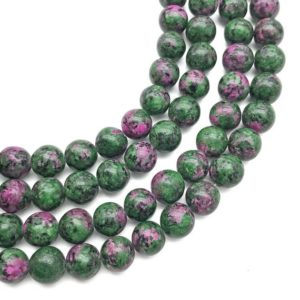 Shop Ruby Zoisite Round Beads! 10mm Ruby Zoisite Beads, Round Gemstone Beads, Wholesale Beads | Natural genuine round Ruby Zoisite beads for beading and jewelry making.  #jewelry #beads #beadedjewelry #diyjewelry #jewelrymaking #beadstore #beading #affiliate #ad