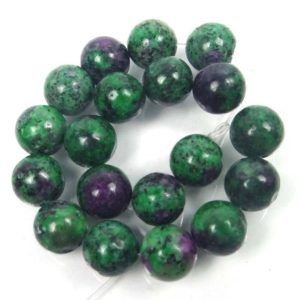 Shop Ruby Zoisite Round Beads! 10mm Ruby Zoisite Round Beads Half Strandm(e7953) | Natural genuine round Ruby Zoisite beads for beading and jewelry making.  #jewelry #beads #beadedjewelry #diyjewelry #jewelrymaking #beadstore #beading #affiliate #ad
