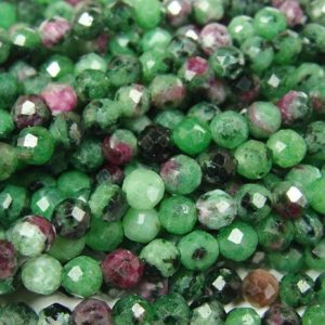 Shop Ruby Zoisite Round Beads! Natural 4mm Finely Cut Ruby Zoisite Round Beads Genuine Gemstone | Natural genuine round Ruby Zoisite beads for beading and jewelry making.  #jewelry #beads #beadedjewelry #diyjewelry #jewelrymaking #beadstore #beading #affiliate #ad